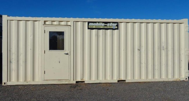 tough mobile storage container with door