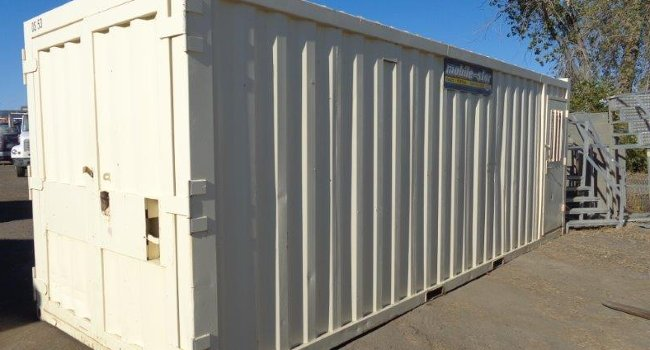 mobile storage container with secure door