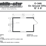On Ground Office 8x12 with Security Bars